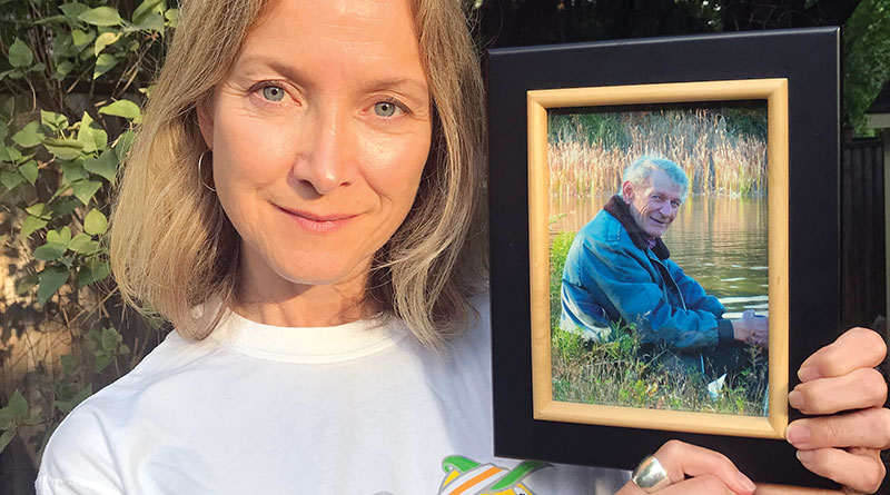 Deanne Puder with father's picture
