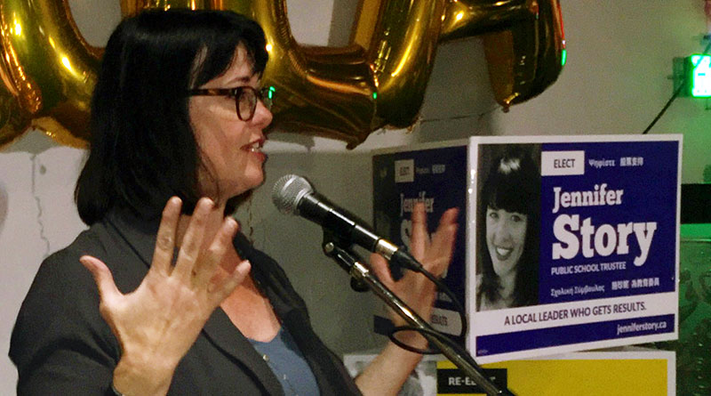 Jennifer Story re-elected trustee for Toronto-Danforth