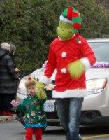 Grinch at Beaches Santa Claus Parade