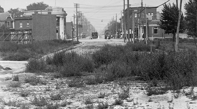 Danforth and Broadview about 1916