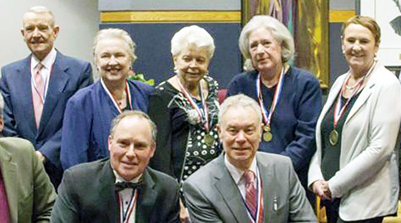 Edna Beange at Agenes Macphail Award ceremony.