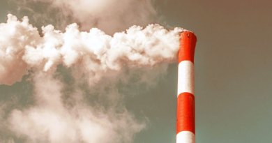 Smokestack causing climate change
