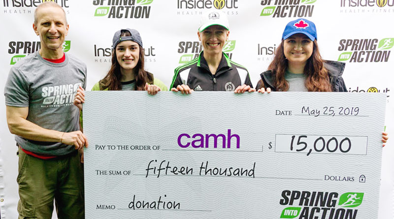 Spring into Action cheque