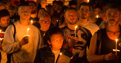 Candlelight vigil crowd