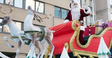 Santa in Santa Claus parade
