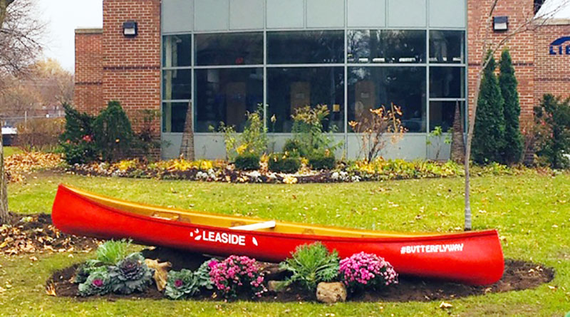 Butterfly Canoe at Leaside Library