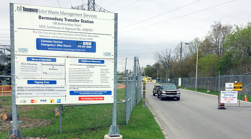 Bermondsey drop-off depot gates