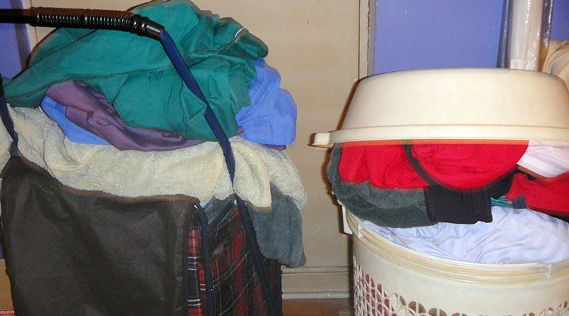 laundry piling up