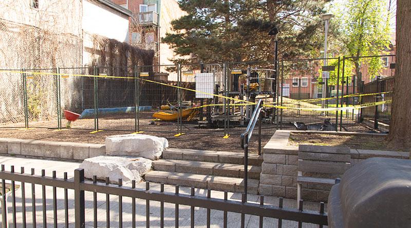 Ontario Street Parkette where playground located