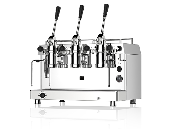 Dual fuel commercial coffee machine for mobile coffee truck