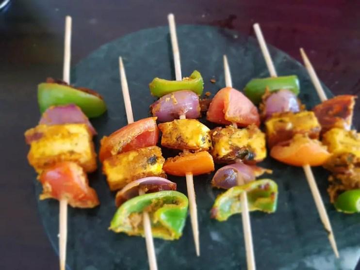 BBQ Food Truck Menu Ideas - Paneer skewers