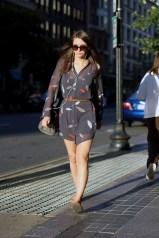 Shirt Skirt Brunette
