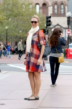 Checkered Dress - On the street