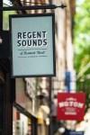 Photo of Regent Sounds' sign