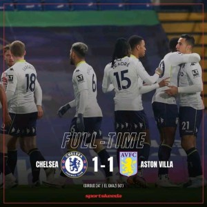 Chelsea 1-1 Aston Villa - Highlights & Goals 2020 (Premier league)