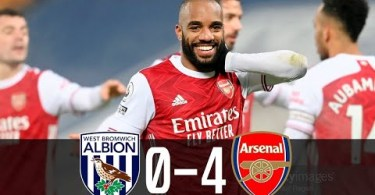 West Brom 0-4 Arsenal - Highlights