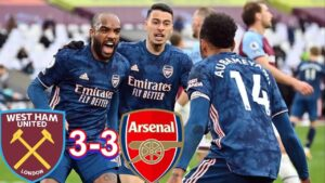 West ham 3-3 Arsenal - Highlights [DOWNLOAD VIDEO]