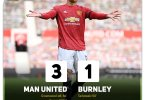 Manchester United 3-1 Burnley - Goal Highlights [DOWNLOAD VIDEO]