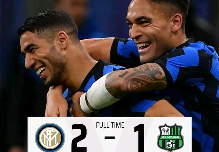 Inter 2-1 Sassuolo - Goals Highlights