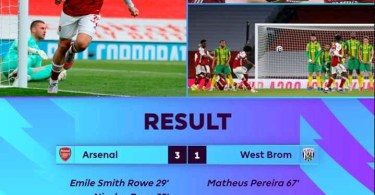 Arsenal 3-1 West Bromwich Albion - Goal Highlights