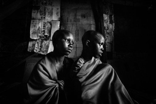 Isina and Nasirian are two 14-years old sisters in a remote Masai village in Kenya. They are going to undergo female genital cutting the next morning as they are both due to be married the year after. Girls' circumcision has been illegal in Kenya since 2001, but among some tribes such as the Masai, it is still a valued tradition. The World Health Organization estimates that there are more than 125 million mutilated women in the world.