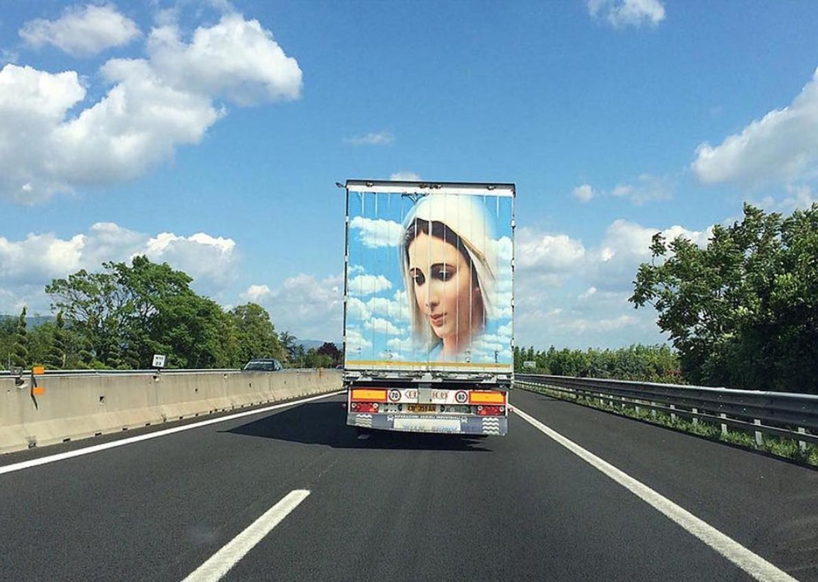 The Holy Lorry: What's the story behind the religious decoration?