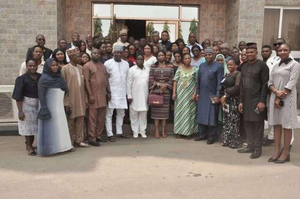 NiDCOM Boss, Hon Abike Dabiri-Erewa with Staff
