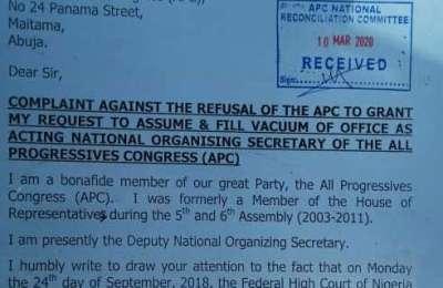 Leaked APC Letter