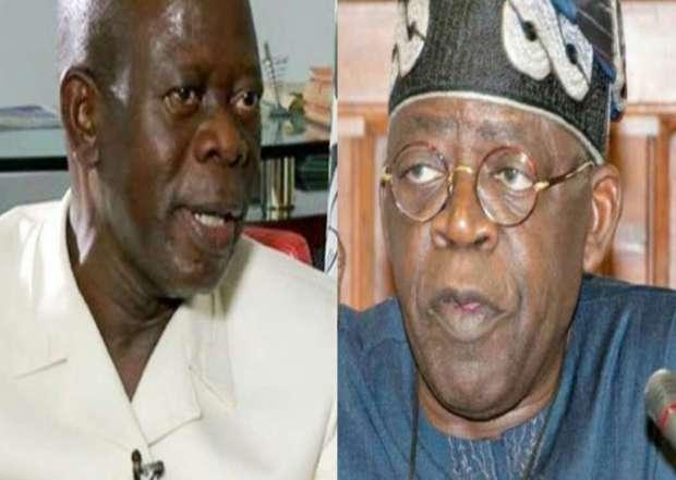Adams Oshiomhole and Ahmed Tinubu