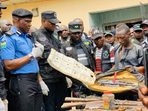 Police Nap 105 Kidnappers and Armed Robbers suspects