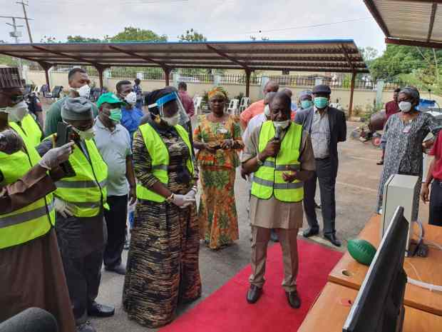 Ekwunife Led Senate Committee Inspects Made in Nigeria anti-COVID-19 Products