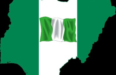 Nigeria and Godless Religions with Nigerian flag