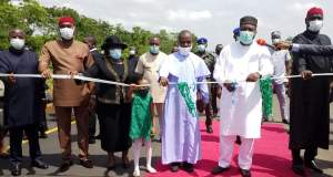 Ifeanyi Ugwuanyi Inaugurated 13-kilometre Nike Lake Junction-Harmony Estate-Amorji Nike- Adoration Pilgrimage Centre –Orie Emene road