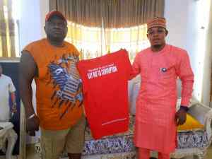 Obidike with Abia State Chairman of National Union Of Road Transport Workers (NURTWs) Chief Eugene Eze