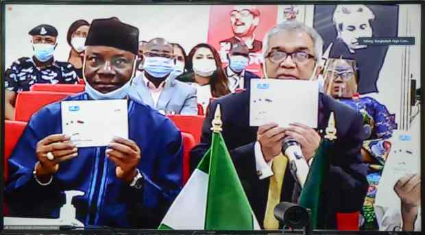 Foreign Ministers of Bangladesh and Nigeria UnveilCommemorative Stamp to Celebrate Mujib Year 1
