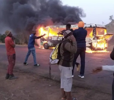 Wikki Tourists Bus Goes Up In Flames