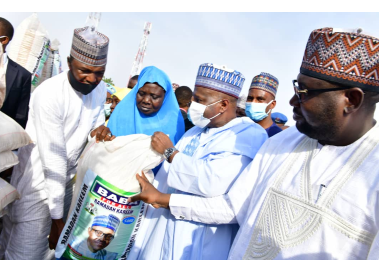 Receives Baba for All Nigeria, as Group Donates Food Items to Women in Gombe