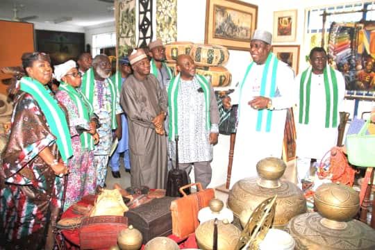 DG NCAC Otunba Runsewe with the other dignitaries at the High table during the World Handicraft day lecture in Abuja