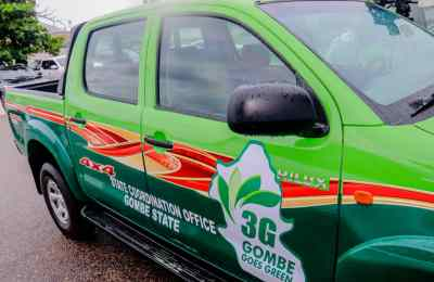 3G Gombe Governor Presents Operational Vehicles to Gombe Goes Green Coordination Office