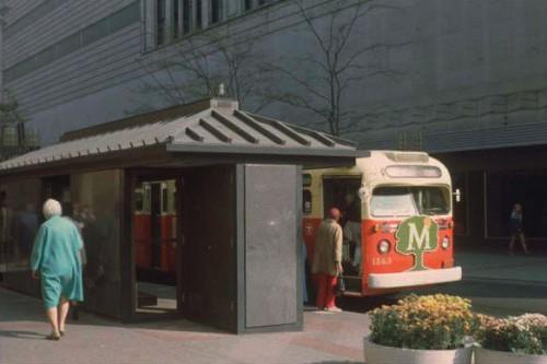MTC Bus, Nicollet Avenue, Minneapolis, Early 1970s