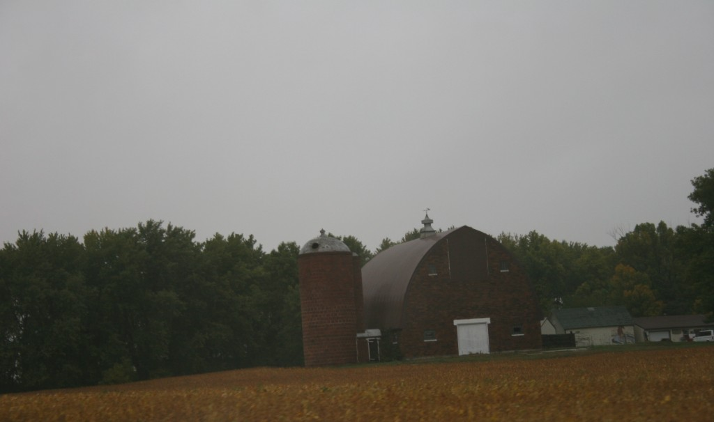 This section of U.S. Highway 14 between Sleepy Eye and Lamberton features many stately and well-kept barns on family farms.