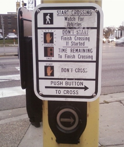 Crosswalk button 1