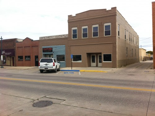 Some buildings in Owatonna that have had less successful architectural restoration.