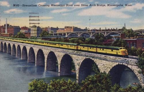 Stone Arch Bridge and Train
