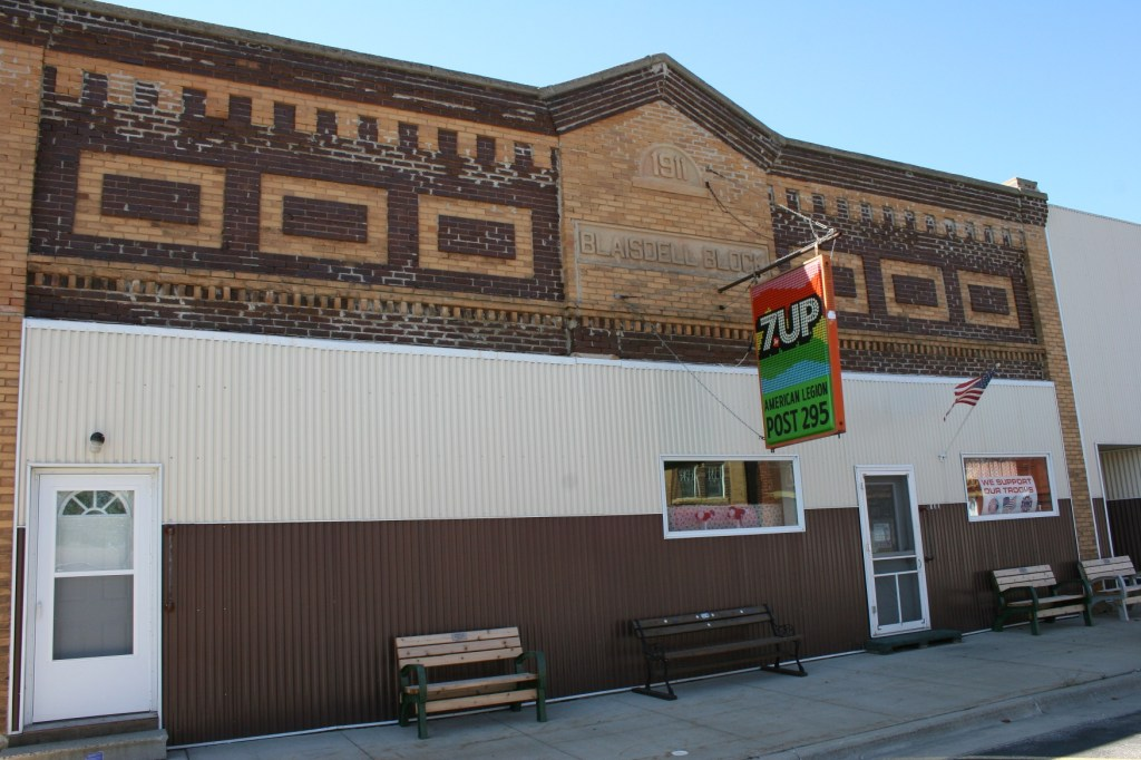 A misguided attempt, in my opinion, to improve the exterior of the West Concord American Legion, photographed in 2010.