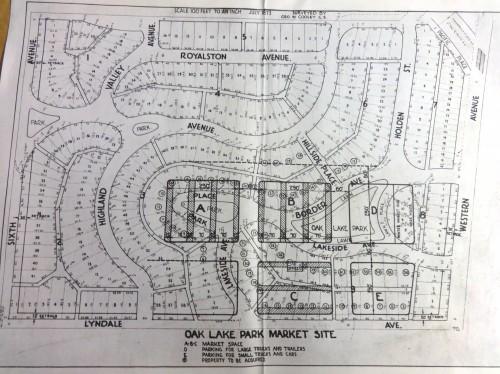 Oak lake park redevelopment map