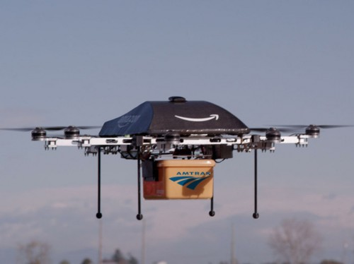Amazon/Amtrak Person-in-Package delivery drone