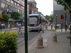 Modern Streetcar in Istanbul