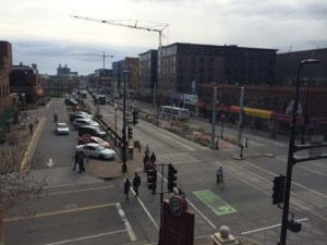 Green Line on Washington Avenue SE - The Crane is becoming the state bird