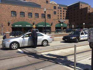 Violations abound of cars in the bike lane on Washington Ave. SE